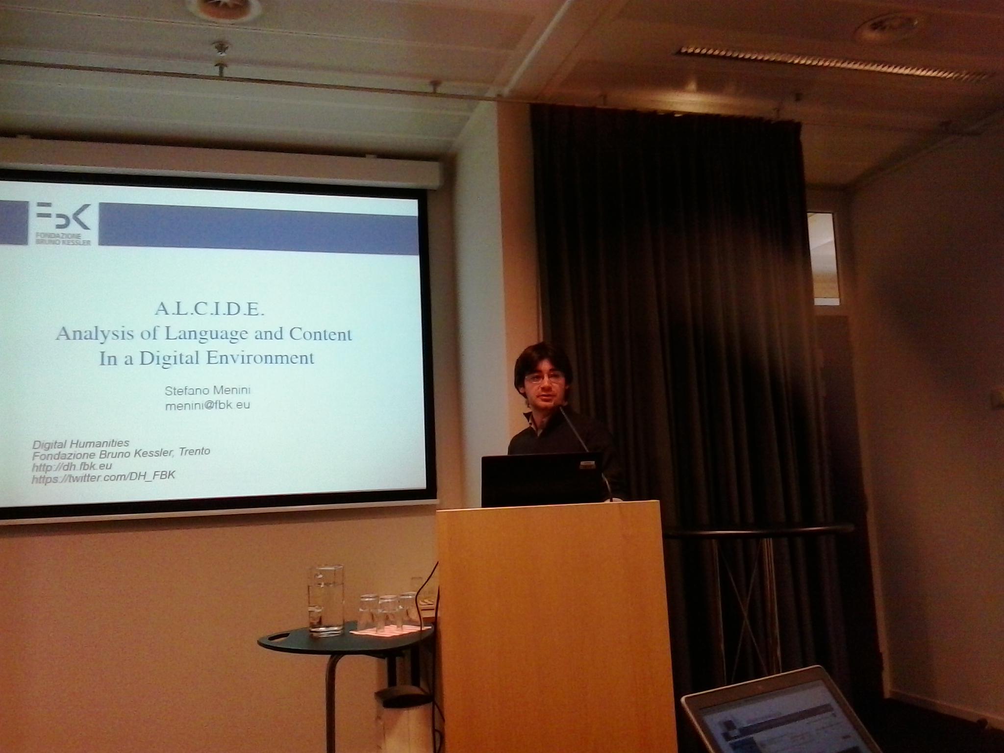 Stefano Menini presenting ALCIDE