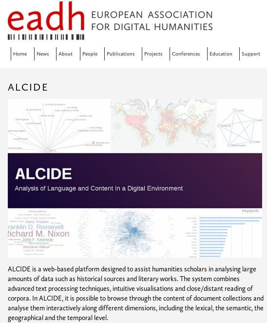 ALCIDE on the EADH website
