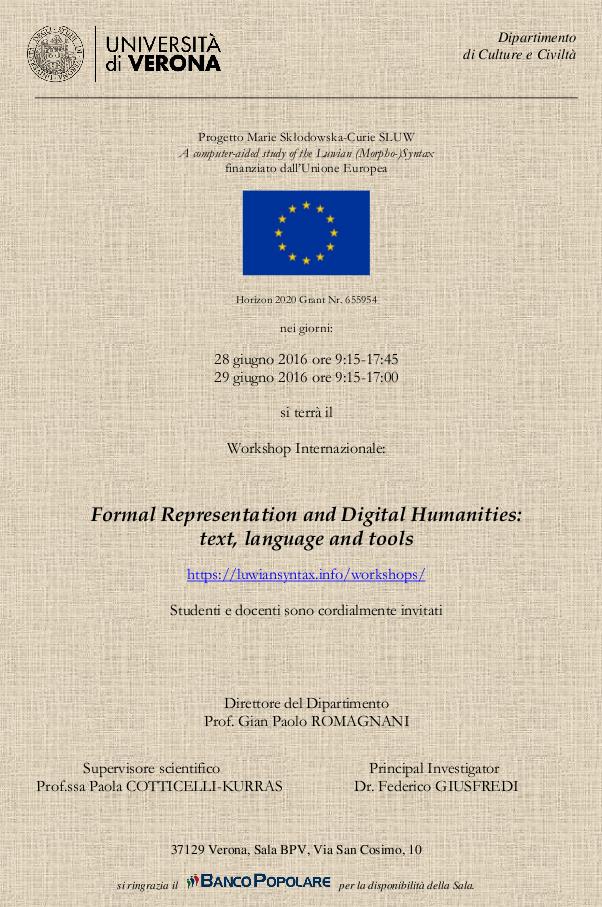 Flyer of the workshop
