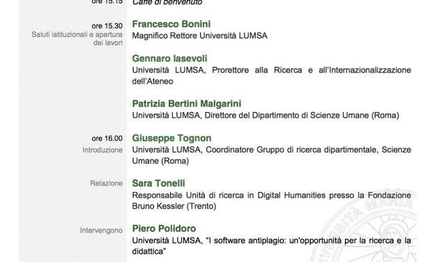 Invited talk at LUMSA University, Rome