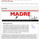MADRE on the EADH website